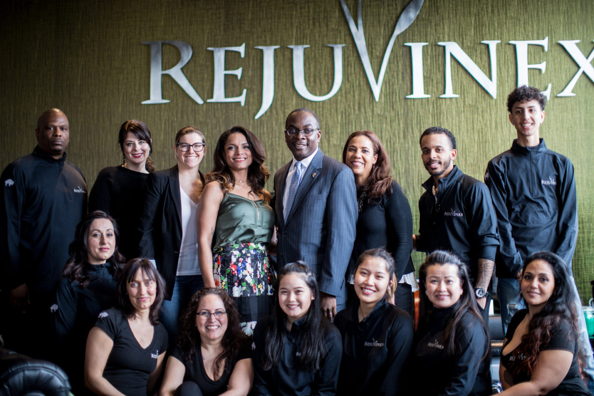 The Rejuvinex crew with Mayor Byron Brown