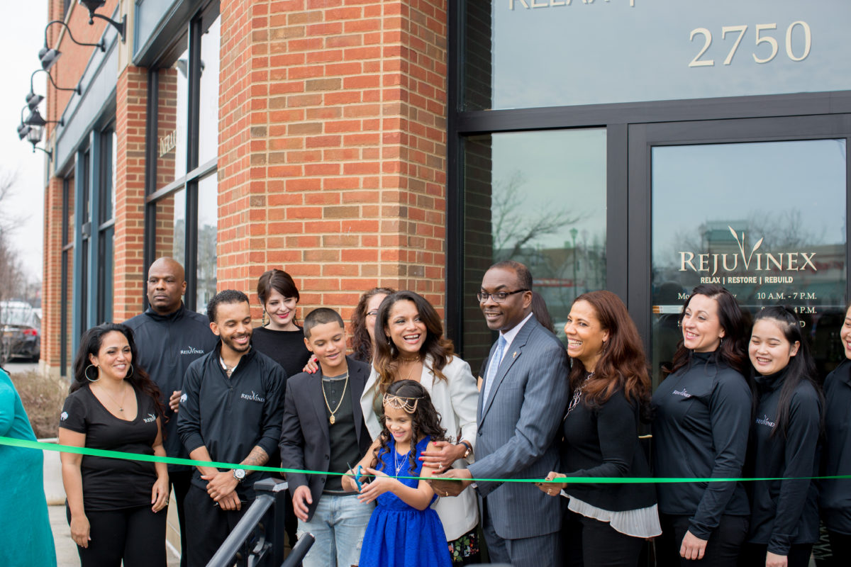 Ribbon-cutting with Mayor Byron Brown