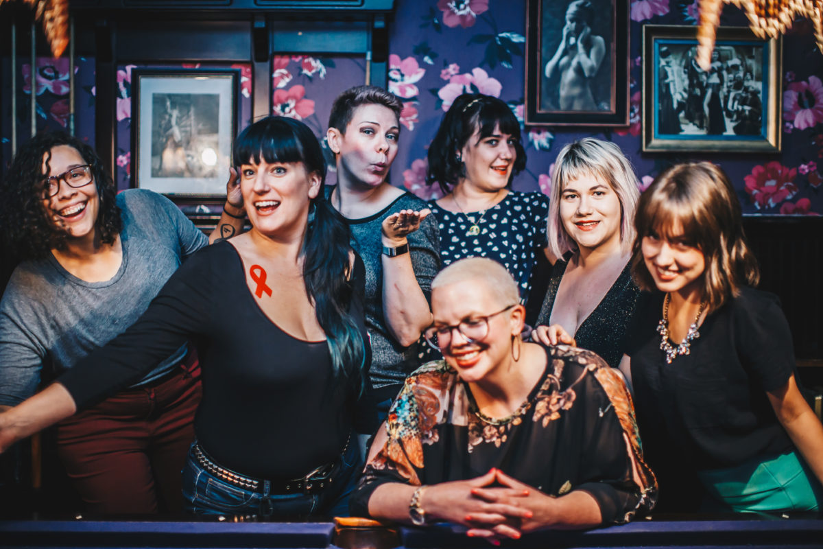 The Qween City Team! From L-R: Shannon Dawn, Tia Brown, Lara Martini, Ashera, Kaitlin Anne Russo, Mikayla, and Kristy Michelle (not pictured, as she was snappin': Alana A. Fajemisin)